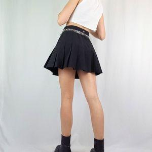 Black vintage pleated tennis skirt